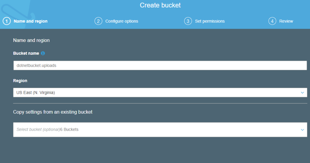 Asp net MVC to AWS S3 bucket using user policies to Upload